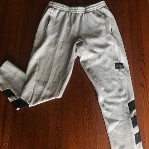 light grey adidas sweatpants